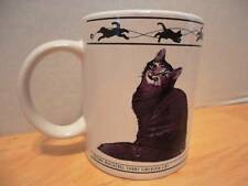 Houston Harvest Tabby Siberian Abyssinian Cat Lovers Limited Coffee Cup Mug RARE