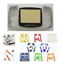 GBA Nintendo Game Boy Advance Replacement Housing Shell Screen Clear BUTTONS!