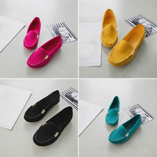 Women Casual Soft Ballerina Moccasin Suede Slip On Flat Loafers Ladies Shoes New