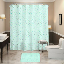 HALLO Mint Green Color Dots Style Waterpro of Polyester Fabric Shower Curtain
