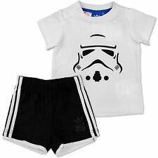 Adidas Star Wars Storm Trooper Set Baby Small Child Boy Trousers + Shirt 62-80