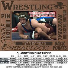 Personalized Sports Wrestling Picture Frames Custom Laser Engraved School Gifts