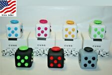 WHOLESALE LOT OF 10, 20 OR 50 FIDGET CUBES TOY STRESS RELIEVER ASSORTED COLORS