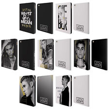 OFFICIAL JUSTIN BIEBER BLACK AND WHITE LEATHER BOOK WALLET CASE FOR APPLE iPAD