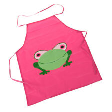 Cute Children Waterproof Apron With Cartoon Frog Prints For Painting/Cooking OL