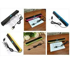 Portable USB Audio Sound Bar Stereo Speaker for Laptop Computer PC Notebook New!