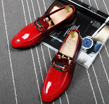 Mens Fashion Loafers Slip On Leather Pointy Toe Wedding Dress Party Formal Shoes