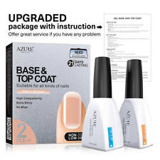 Azure New12ml  Base Coat  Top Coat Soak Off UV LED Nail Art Gel Polish 2pcs