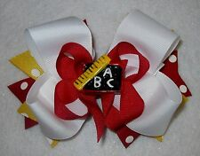 Boutique Hair Bow Back to School BTS Hairbow Girls ABC