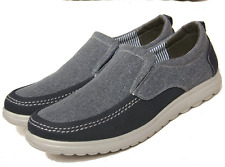 New Mens Driving Shoes Flat Slip On Loafers Comfortable Breathable Casual Canvas