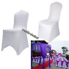 Universal 2-100pcs Chair Covers Spandex Lycra Wedding Banquet Anniversary Party