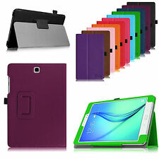 Folio PU Leather Case Cover Smart Wake for Samsung Galaxy Tab A 9.7-Inch Tablet