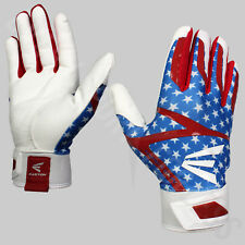 Easton Z7 Hyperskin SS Youth Baseball Batting Gloves Pair R/W/B (NEW)Lists @ $30
