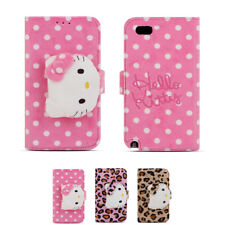 Hello Kitty Rag Doll Plush Button Protect Diary Case For Apple iPhone 5 5S SE