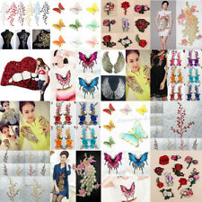 45Style Embroidered Feather Butterfly Patch Applique Dress Bag Jeans Decor Craft
