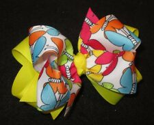 Girls Hair Bows Boutique Hairbows Toddler Bows Bright Butterfly Double Layer Bow