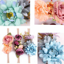 3pcs Headwear Accessory Newborn Kid Baby Girl Toddler Hair Band Flower Headband