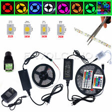 FC 10M 5M SMD 3528 5050 5630 300LEDs RGB White LED Strip Light 12V Power Supply