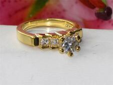 STEP  ENGAGEMENT RING SOLITAIRE  PRINCESS SIMULATED DIAMOND RING  RG038