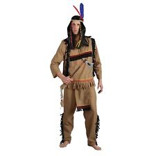 Mens Indian Brave Apache Warrior Native American Halloween Fancy Dress Costume