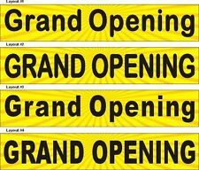 2ftX10ft Custom Printed Grand Opening Banner Sign, Yellow Background #2
