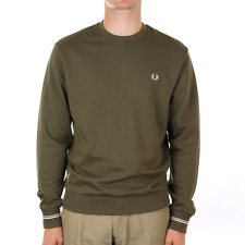 Fred Perry Crew Neck Sweat - Iris Leaf