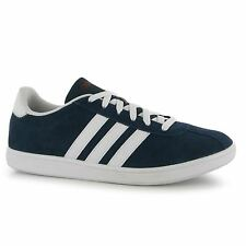 Adidas VL Neo Court Suede Trainers Mens Navy/White Casual Sneakers Shoes