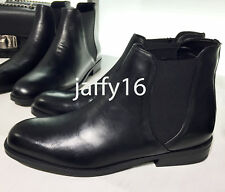 ZARA WOMAN FLAT LEATHER ANKLE BOOTS 35-42 REF. 6140/201