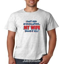 Funny T-Shirt I Don't Need An Encyclopedia My Wife Knows It All Smart Men's