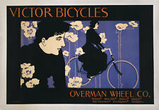 """William Bradley Poster : """"Victor Bicycles"""" (1896) — Giclee Fine Art Print"""