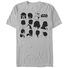 Star Wars Character Silhouettes Mens Graphic T Shirt