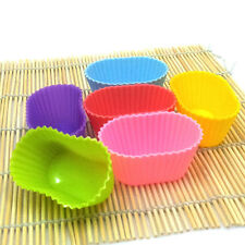 3D oval silicone baking mold mould cup cake muffin jelly dessert chocolate soap