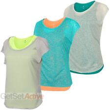 adidas Womens Ladies Double Layer climalite Gym T-Shirt Running Tee Vest Top
