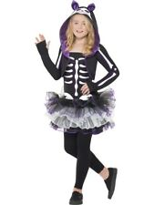 Kids Skeleton Skelly Tutu Cat Girls Halloween Fancy Dress Costume Party Outfit