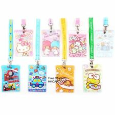 SANRIO KITTY MELODY CINAMOROLL GUDETAME THOMAS PVC CARD HOLDER W/ NECK STRAP