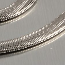New Unique 6MM Stainless Steel Flat Snake Chain Necklace Smooth As Silk