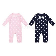 Newborn Baby Kids Boys Girls Infant Polka Dots Cotton Romper Jumpsuit Outfit Set
