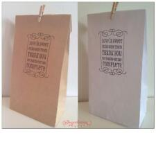 WHITE Lolly Bag Hand stamped 'Love is Sweet Take a Treat' - Wedding Engagement