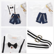 Baby Boy Clothes Short Sleeve Shirt+short Jeans pants Kids Outfits Gentleman Set