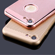 For iPhone 8 7 6s 5 Slim Heat Dissipation Electroplated Soft Rubber Case Cover