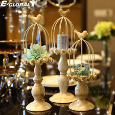 Birdcage Iron Candle Holder Tea Light Creative Wedding Romantic Dinner Decor