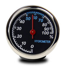 Steel Car Auto Hygrometer Meter Fit for Dashboard Ornament Decoration