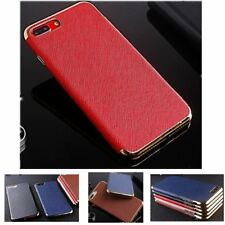 Luxury Ultra Thin Leather Chrome Soft Back Case Cover For iPhone 7 6 6S Plus 5S