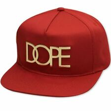 Dope Couture 24K Gold Logo Snapback Red