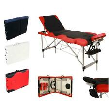"84""Portable 3 Fold Tattoo Parlor Spa Salon Facial Bed Beauty Massage Table Chair"