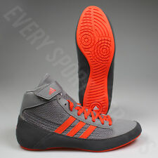 Adidas HVC 2 Youth Wrestling Shoes CG3803 - Grey / Solar Red (NEW) Lists @ $50