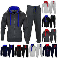 Mens Tracksuit Jogging Top Bottom Gym Sport Sweat Suit Hoodie Trousers Pants Set