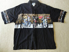 Big Dogs Men's XL Shirt Dogs on Motorcycles, Bowling, Charlie Sheen, Cuban style