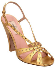 Valentino Stardust Crystal Embellished Metallic Leather Sandal