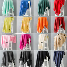 Beautiful Women Winter Warm Cashmere Silk Solid Long Pashmina Shawl Wrap Scarf